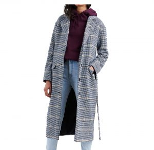 abrigo largo cuadros